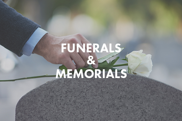 Funerals and memorials image