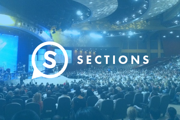 sections blue banner