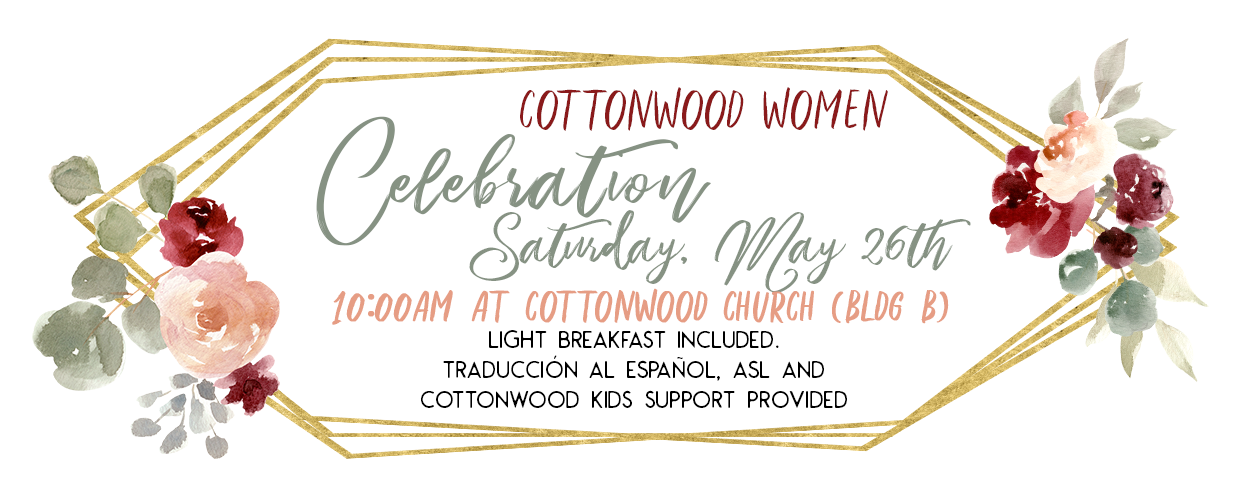 Cottonwood Women celebration invitation