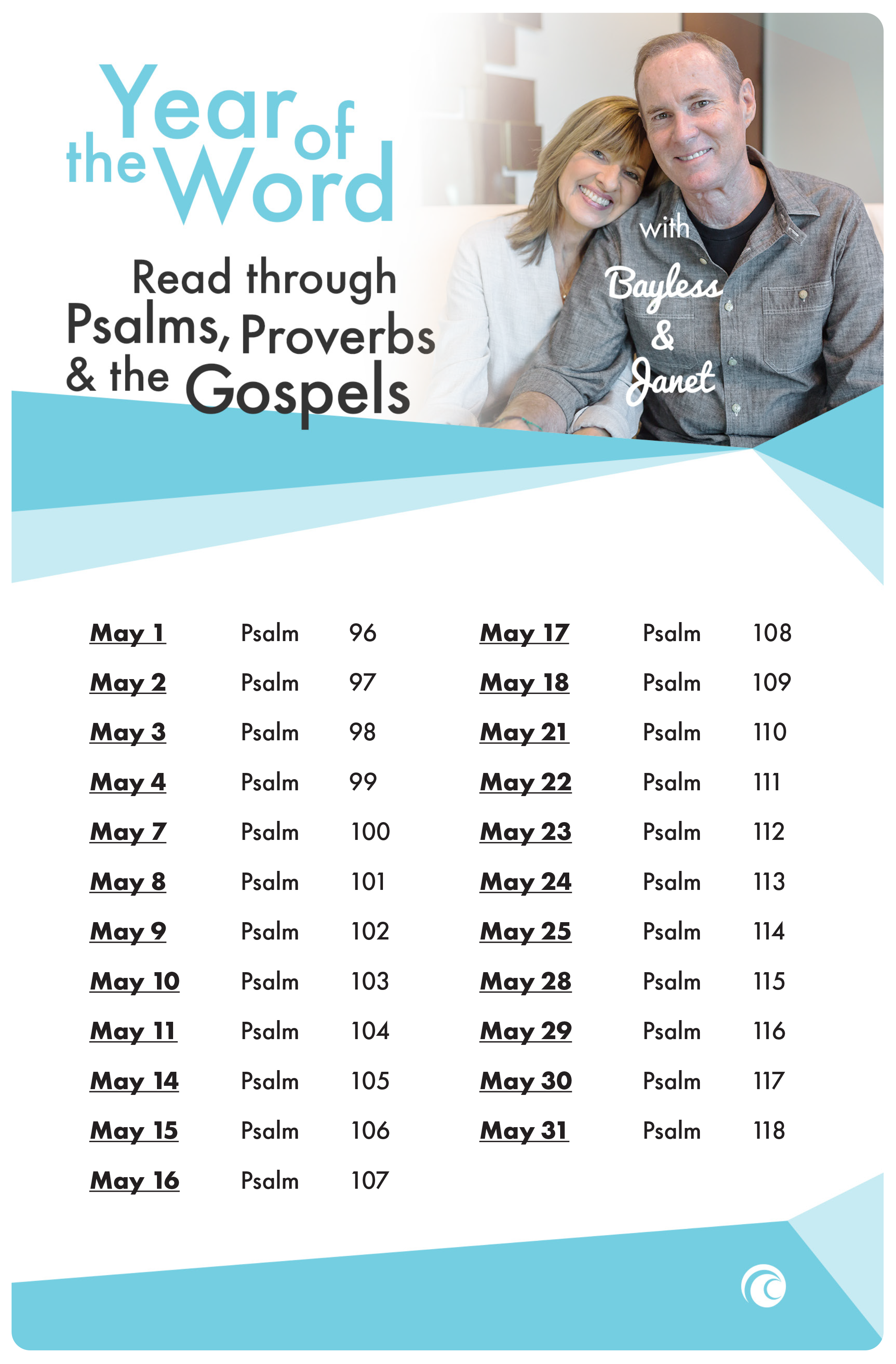 Pslams Proverbs and Gospels May 2018