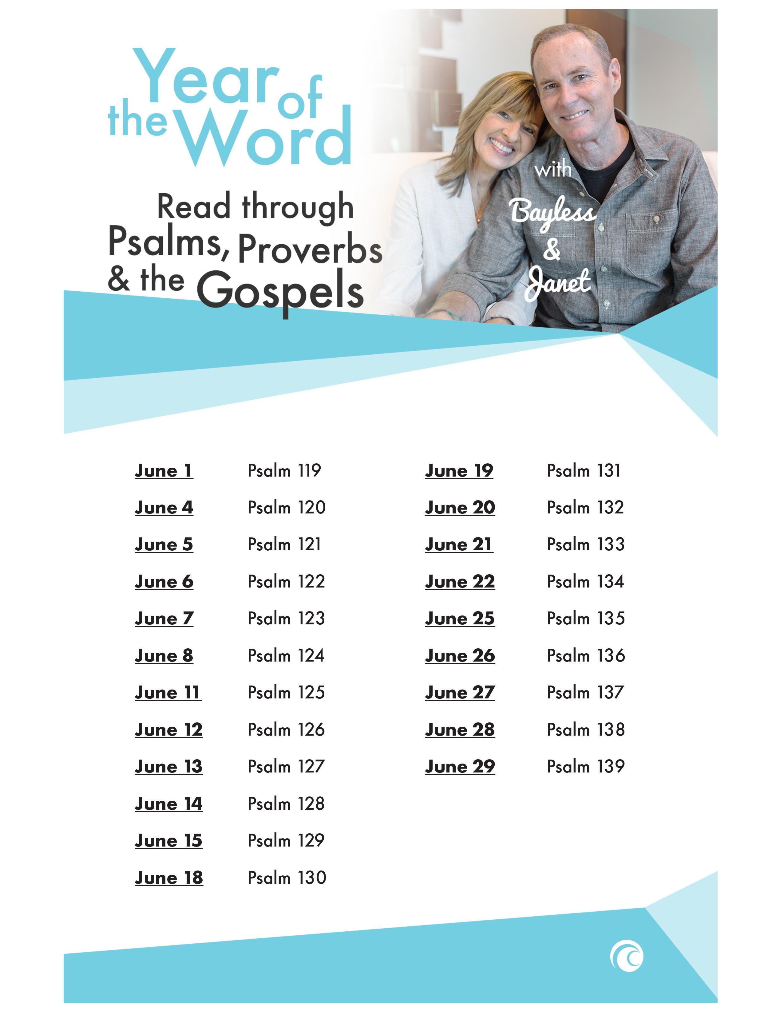 YOTW Psalms Proverbs Gospels June 2018