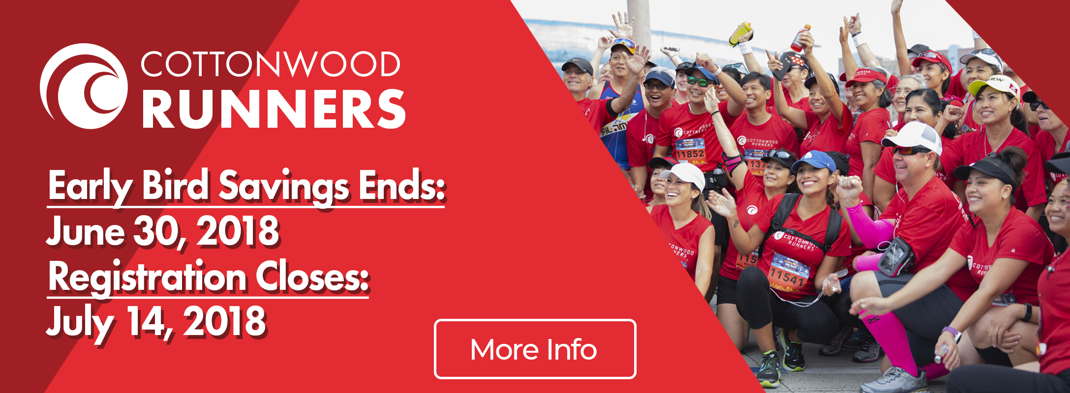 Cottonwood Runners Early Bird Savings Ends June 30 Registration Closes July 14 208