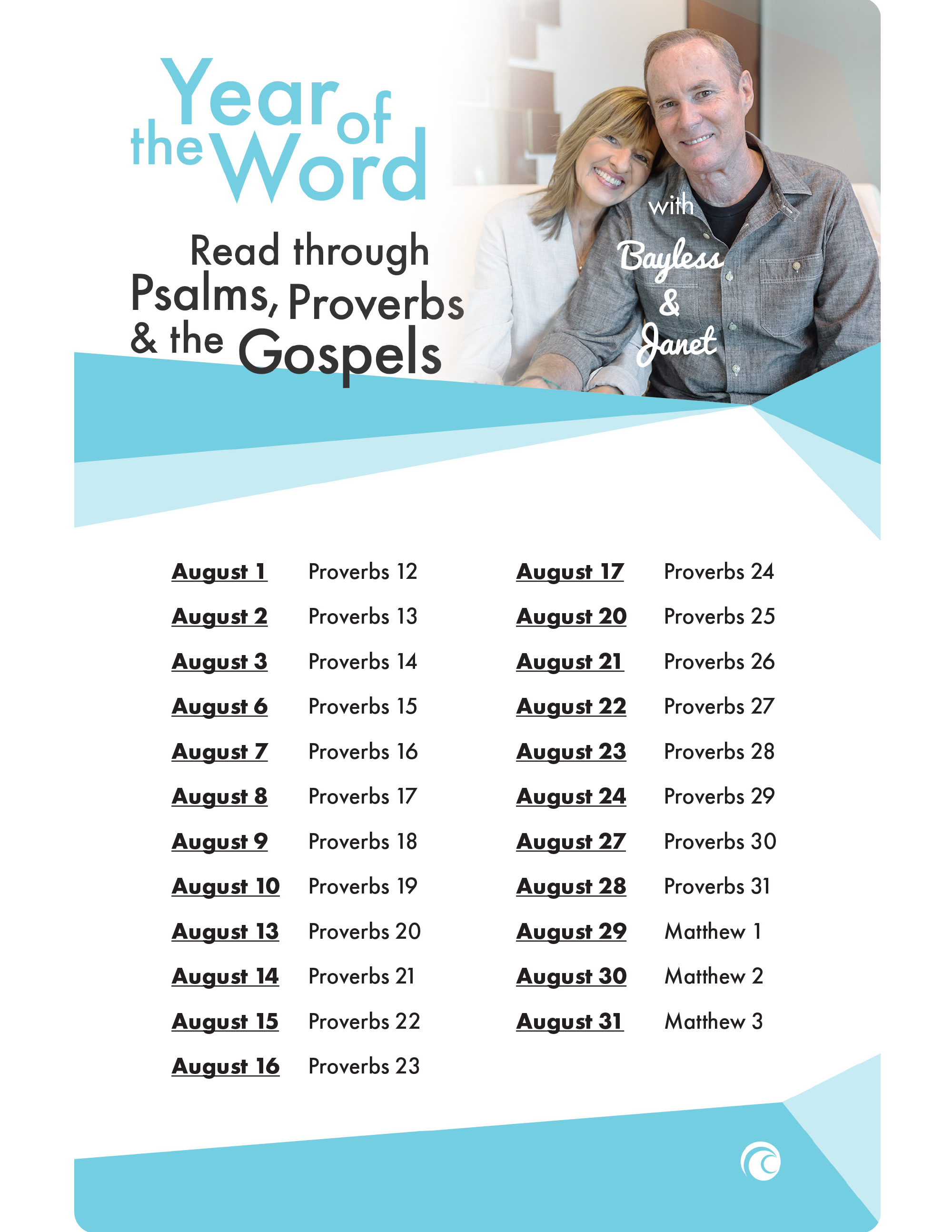 year of the word with bayless and janet read through psalms proverbs and the gospels