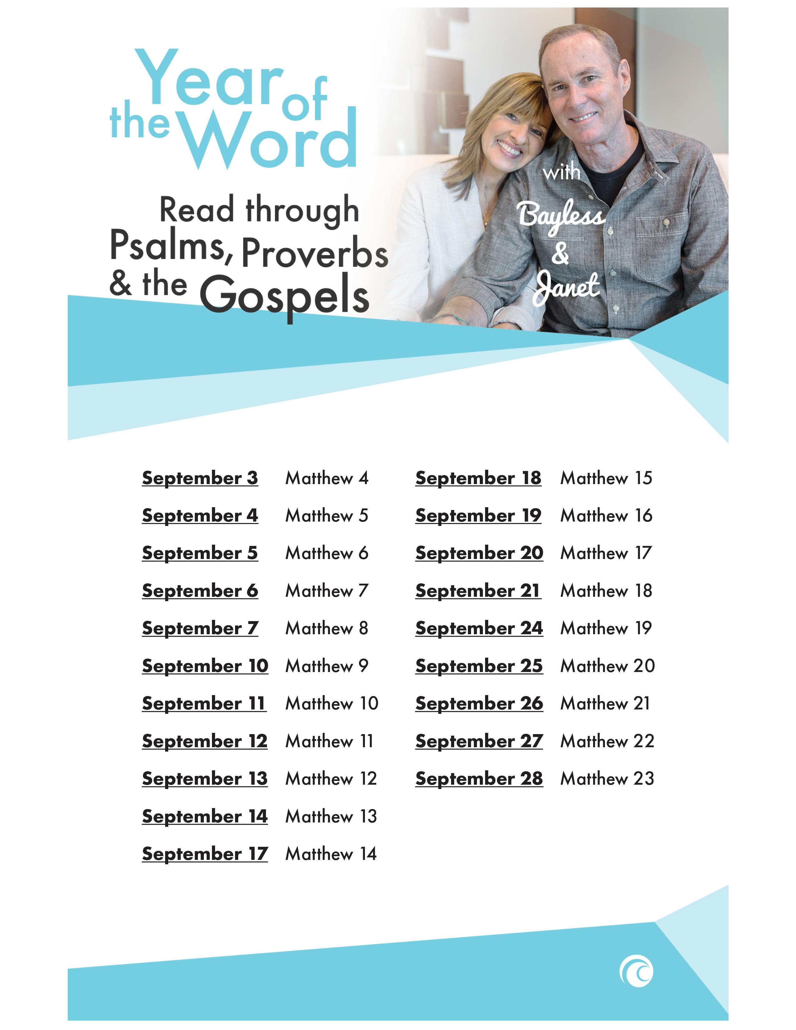 Psalms Proverbs Gospels September 2018