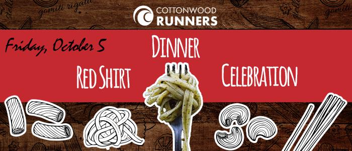 cottonwood runners friday october 5 red shirt dinner celebration