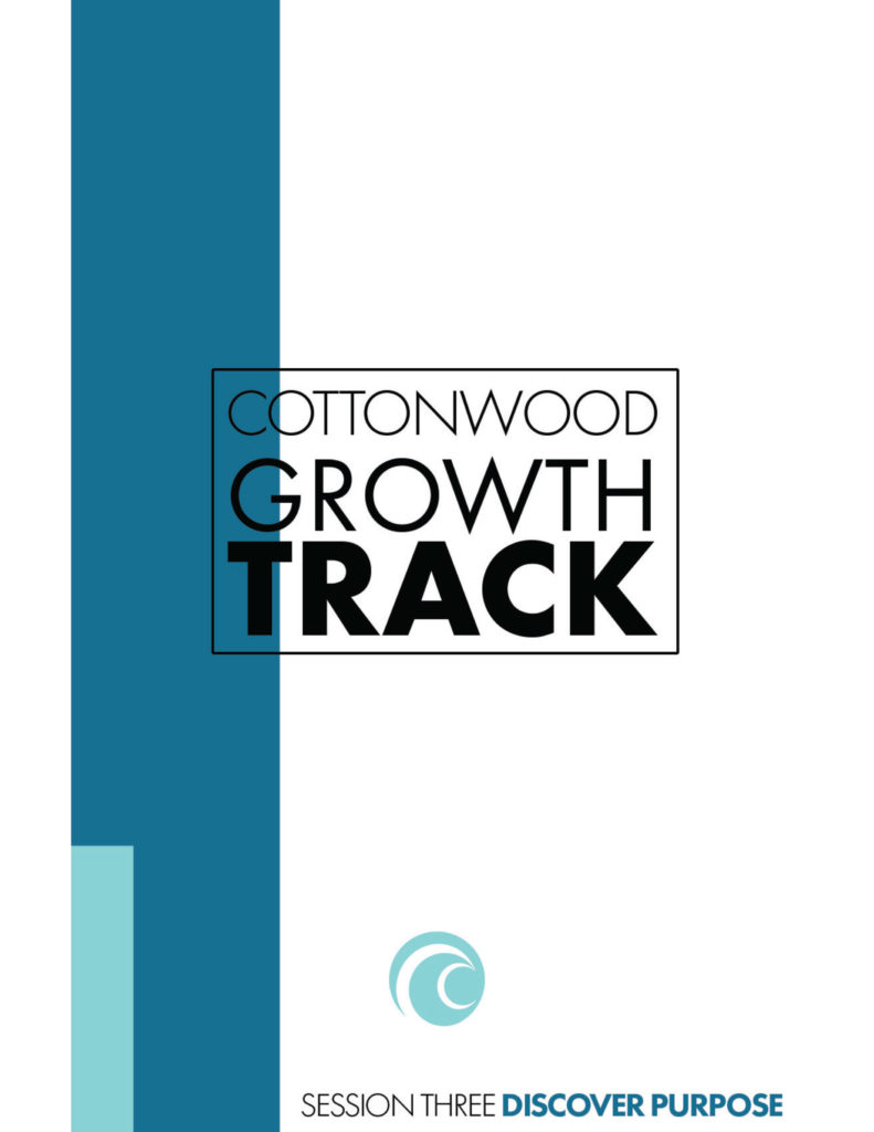 Growth Track Session 3 Discover Purpose booklet