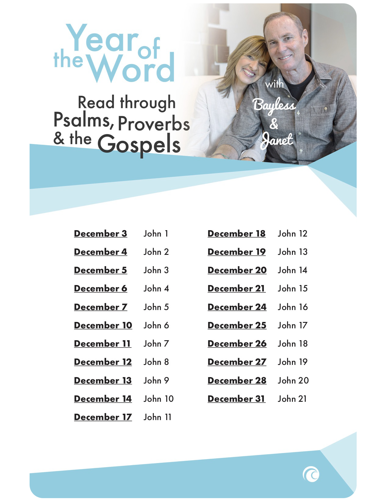 Year of the Word, December: Psalms, Proverbs, and the Gospels